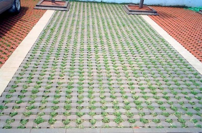 绿创渗水草坪砖