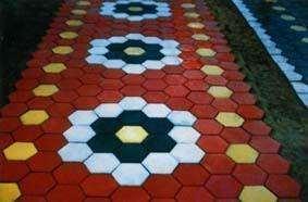 彩色草坪砖