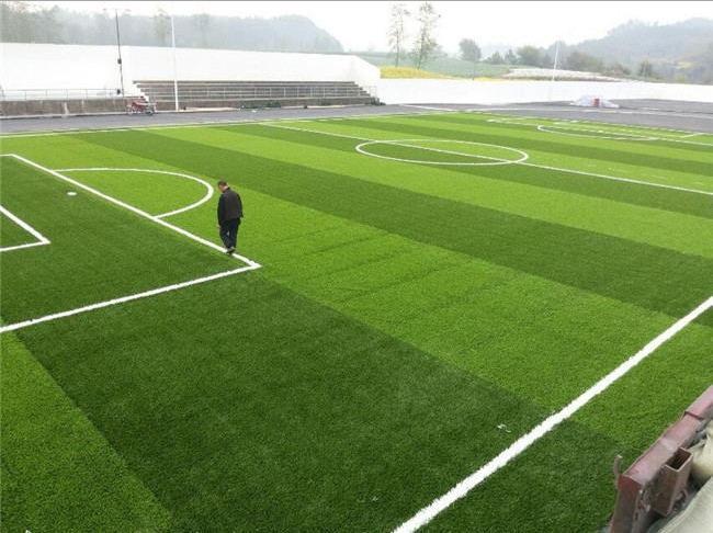 足球场人工草坪填充颗粒密度